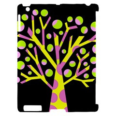 Simple colorful tree Apple iPad 2 Hardshell Case (Compatible with Smart Cover)