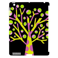 Simple colorful tree Apple iPad 3/4 Hardshell Case (Compatible with Smart Cover)