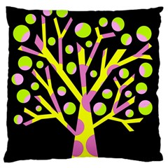 Simple colorful tree Large Cushion Case (Two Sides)