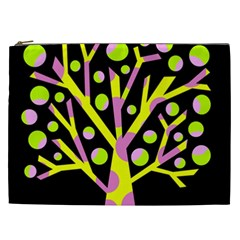 Simple colorful tree Cosmetic Bag (XXL)