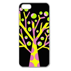 Simple colorful tree Apple Seamless iPhone 5 Case (Clear)