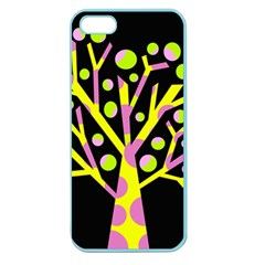 Simple colorful tree Apple Seamless iPhone 5 Case (Color)