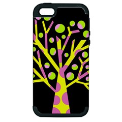 Simple colorful tree Apple iPhone 5 Hardshell Case (PC+Silicone)