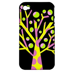 Simple colorful tree Apple iPhone 4/4S Hardshell Case (PC+Silicone)