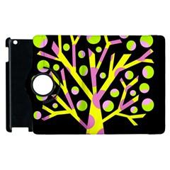 Simple colorful tree Apple iPad 2 Flip 360 Case
