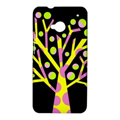 Simple colorful tree HTC One M7 Hardshell Case