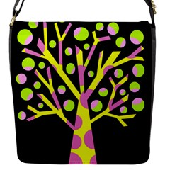 Simple colorful tree Flap Messenger Bag (S)