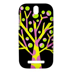 Simple colorful tree HTC One SV Hardshell Case