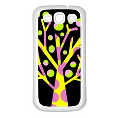 Simple colorful tree Samsung Galaxy S3 Back Case (White)