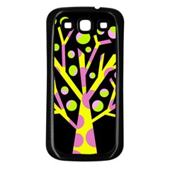 Simple colorful tree Samsung Galaxy S3 Back Case (Black)