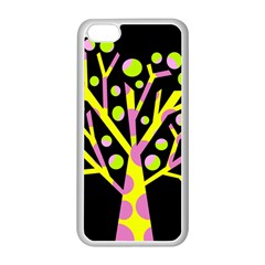 Simple colorful tree Apple iPhone 5C Seamless Case (White)