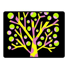 Simple colorful tree Double Sided Fleece Blanket (Small)
