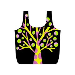 Simple colorful tree Full Print Recycle Bags (S)