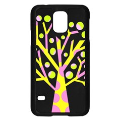 Simple colorful tree Samsung Galaxy S5 Case (Black)