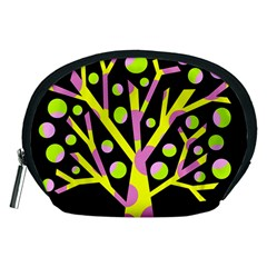 Simple colorful tree Accessory Pouches (Medium)