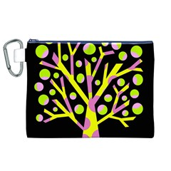 Simple colorful tree Canvas Cosmetic Bag (XL)