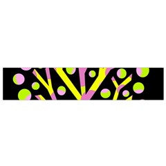 Simple colorful tree Flano Scarf (Small)