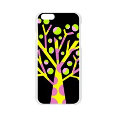 Simple colorful tree Apple Seamless iPhone 6/6S Case (Transparent)