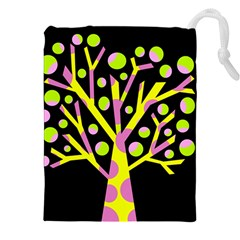 Simple colorful tree Drawstring Pouches (XXL)