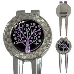 Purple magical tree 3-in-1 Golf Divots