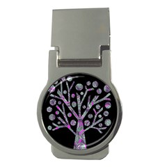 Purple magical tree Money Clips (Round)