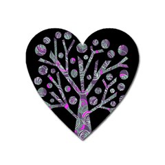 Purple magical tree Heart Magnet