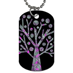 Purple magical tree Dog Tag (Two Sides)
