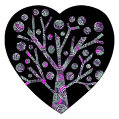 Purple magical tree Jigsaw Puzzle (Heart)