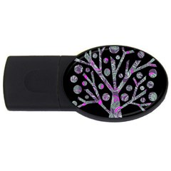 Purple magical tree USB Flash Drive Oval (4 GB)