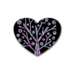 Purple magical tree Heart Coaster (4 pack)