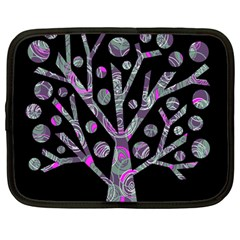 Purple magical tree Netbook Case (Large)