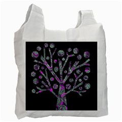 Purple magical tree Recycle Bag (One Side)
