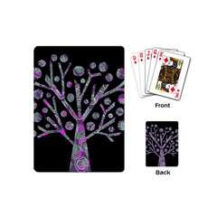 Purple magical tree Playing Cards (Mini)