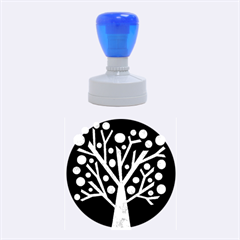 Purple magical tree Rubber Round Stamps (Medium)