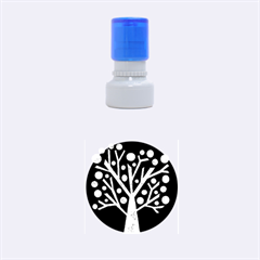 Purple magical tree Rubber Round Stamps (Small)