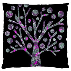 Purple magical tree Large Cushion Case (Two Sides)
