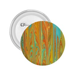 Beautiful Abstract in Orange, Aqua, Gold 2.25  Buttons