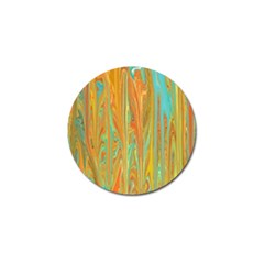 Beautiful Abstract In Orange, Aqua, Gold Golf Ball Marker (10 Pack)