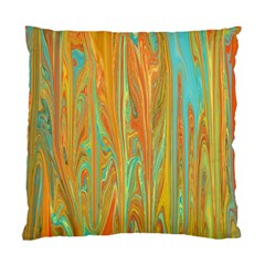 Beautiful Abstract in Orange, Aqua, Gold Standard Cushion Case (Two Sides)