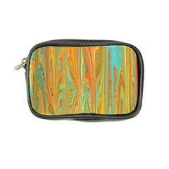 Beautiful Abstract In Orange, Aqua, Gold Coin Purse