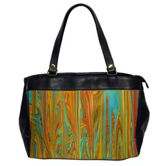 Beautiful Abstract In Orange, Aqua, Gold Office Handbags