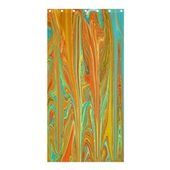 Beautiful Abstract In Orange, Aqua, Gold Shower Curtain 36  X 72  (stall)