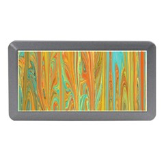 Beautiful Abstract in Orange, Aqua, Gold Memory Card Reader (Mini)