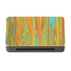 Beautiful Abstract In Orange, Aqua, Gold Memory Card Reader With Cf