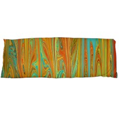 Beautiful Abstract in Orange, Aqua, Gold Body Pillow Case Dakimakura (Two Sides)