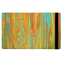 Beautiful Abstract in Orange, Aqua, Gold Apple iPad 3/4 Flip Case