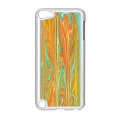 Beautiful Abstract In Orange, Aqua, Gold Apple Ipod Touch 5 Case (white)