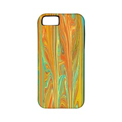 Beautiful Abstract In Orange, Aqua, Gold Apple Iphone 5 Classic Hardshell Case (pc+silicone)
