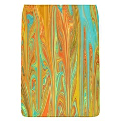 Beautiful Abstract in Orange, Aqua, Gold Flap Covers (S)