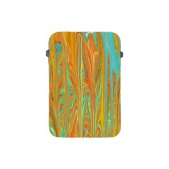 Beautiful Abstract In Orange, Aqua, Gold Apple Ipad Mini Protective Soft Cases